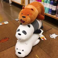 We Bare Bears Plush Panda Grizzly Ice Bear Toys Stuffed Doll Pillow Kids Gifts