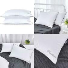 Puredown Natural Goose Down Feather Bed Pillow Beautiful Embroidered Design T233