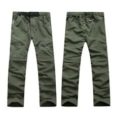 Mens Outdoor Pants Hiking Trousers Quick Dry Removable Climbing Trekking Classic