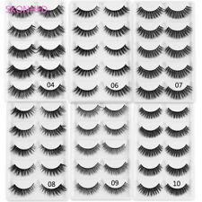 Thick Eye Lashes Extension Wispy Fluffy  False Eyelashes 3D Faux Mink Hair