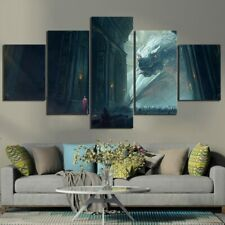 5 Panel Dragon GOT Game of Thrones Movie Fantasy Canvas Wall Art Painting Poster