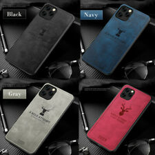Deer Pattern Retro Leather Bumper Case Cover For iPhone 11 Pro Max XR XS 7 8 6S