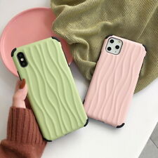 For iPhone 11 Pro Max XS XR 8 7 Plus Wave Pattern Soft Silicone Phone Case Cover