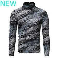 Slim Fit Pullover Casual Knitwear T-Shirt Jumper Knit Shirt Turtleneck Knitted
