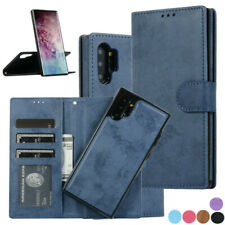 PU Leather Flip Wallet Card Case Cover For Samsung Galaxy Note 10 Plus S10 S9 S8