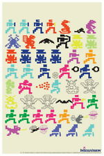 101405 Intellivision Game Characters Sprites Gaming Decor LAMINATED POSTER AU