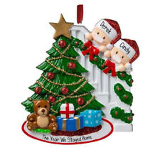2020 Personalized Masked Stay At Hom Ornament Family Christmas Tree 1-5 Members