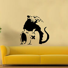 LARGE Banksy Style Poison Rat Wall Sticker graffiti