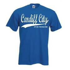Cardiff City Retro Style Football FC T Shirt