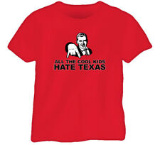 Cool Kids Hate Texas Oklahoma College Ball Red T Shirt
