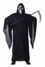 Adult Grim Reaper w/ Mask Scary Costume Halloween