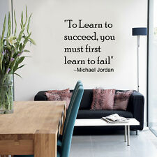 To Learn To Succeed... - Wall Art Quote Decal Sticker