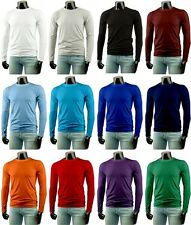 New Mens Long-Sleeve Cotton T-Shirt 12Colour Collection