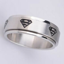 Stainless steel Superman spinner ring ( all sizes here)