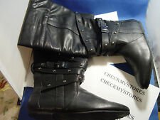 NIB  Baby Phat Frances Womens Black Boots Knee High
