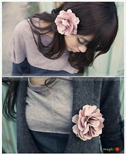 Women Sweet Fabric Flower Hair Clip Pin Brooch ShanghaiMagicbox2 FAHAIR001