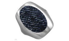 $99 MISS SIXTY New Ring Beautifully Crafted in Blue Denim and Stainless Steel.