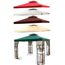 New 10'x10' 12'x12' Replacement Canopy Top Garden Gazebo Cover Beige Green Brown