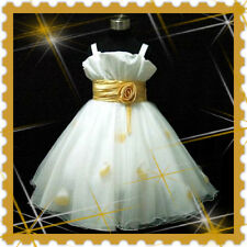 Gold Anniversary Ceremony Party Girls Dresses Age 2-10Y