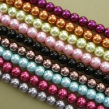 Glass Pearl Faux Round Beads 8mm 50pcs- Pick.