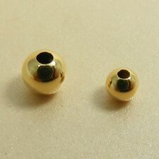 Gold Filled 14K Seamless SMOOTH ROUND Spacer BEADS Findings ~3mm or 4mm~
