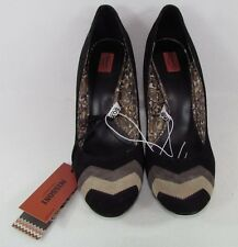 Womens Missoni Target Suede Pumps Heels Shoes Black Slip On All Sizes NIB