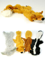 CUDDLY CRAZY CRITTER CRITTERS STUFFING FREE SQUEAKY DOG TOY - 4 VARIATIONS
