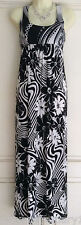NEW Miss Posh Black & White Floral Print Summer Maxi Dress Size 8 16