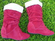 RED BOOTS SHOES YOUTH KIDS GIRLS SIZE 9-4