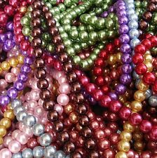 Glass Pearl Faux Round Beads 10mm 20pcs- Pick.