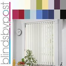 Made to Measure PVC Thermal Blackout Fabric Complete Vertical Blinds - 8 Colours