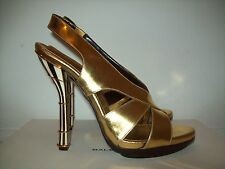BNIB $1,700 BALENCIAGA GOLD SUPER HOT SHOES SIZE 38