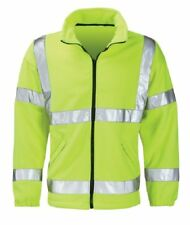 TOP QUALITY HI VIZ FLEECE JACKET IN HIGH VISIBILITY YELLOW - NEW - STAR BUY -