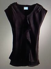 *****nwt Simply Vera Vera Wang Chiffon-Trim Fully Lined Longer Lenght Satin Top