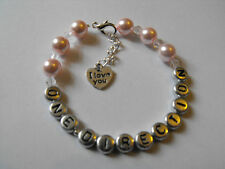 One Direction Personalised Bracelet Harry/Zayn/Louis/Niall/Liam I Love You Charm