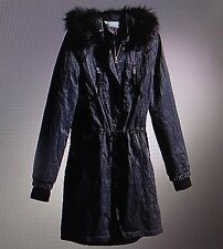 *****nwt Simply Vera Vera Wang Hooded Parka Removable Faux-Fur Long Jacket Coat