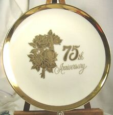 Anniversary Plate Fine Porcelaine ceramic 75th 25th Mother and Dad variations
