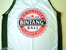 MENS UNISEX BALI BINTANG BEER SINGLET TSHIRT DARK GREEN Sizes XS S M L XL