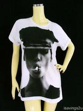 KATE MOSS T-shirt, Sexy MODEL Fashion POP White Cotton S M & L Unisex, Super