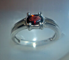 New 6x4mm 0.56 cts garnet 925 sterling silver ring