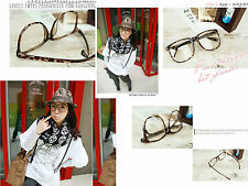 Korean Style Fashionistas Large frame glasses (Leopard)