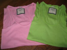 NWT Abercrombie & Fitch Womans Tank Top, Cami T-Shirt Pink or Green, M or L