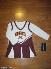 UNIVERSITY OF MINNESOTA~U OF M~GOLDEN GOPHERS~CHEERLEADING OUTFIT~2T~3T~4T~NWT