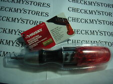 NIB Husky Ratcheting Screwdriver With 8 Bits Included  FREE GUARANTEED FOREVER