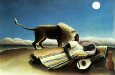 The Sleeping Gypsy Lion by Henri Rousseau Fine Painting Art Repro FREE S/H