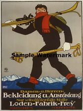 Loden Frey Austria Germany German Clothes Ski Winter Sport Poster Repro FREE S/H