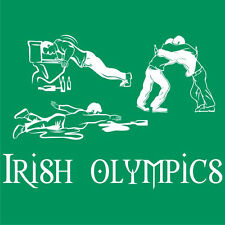 St. Patrick's Day IRISH OLYMPICS T-SHIRT Funny Saint Patty's Party Tee S to 5XL