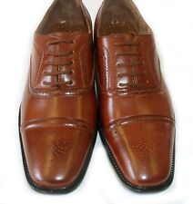 NEW * DELLI ALDO * MENS LEATHER LACE UP OXFORDS WING TIP DRESS SHOES / 2 COLORS