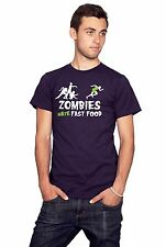 ZOMBIES HATE FAST FOOD T-shirt zombie horror funny undead monster SIZE S-XXL