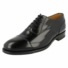 MENS LOAKE SMART BLACK LEATHER LACE UP SHOE 200B G FITTING